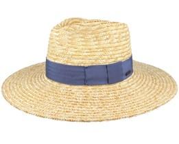 Joanna Hat Honey/Joe Blue Straw Hat - Brixton
