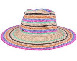 Joanna Stripe Hat Vanilla Mix Straw Hat - Brixton