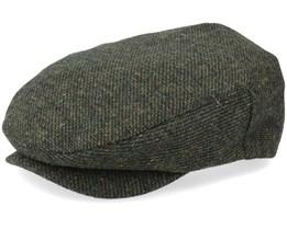 Hatstore Exclusive x Hooligan Snap Cap Moss/Rust Flat Cap - Brixton