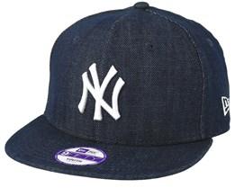 Kids New York Yankees Denim Basic 9Fifty Blue Snapback - New Era