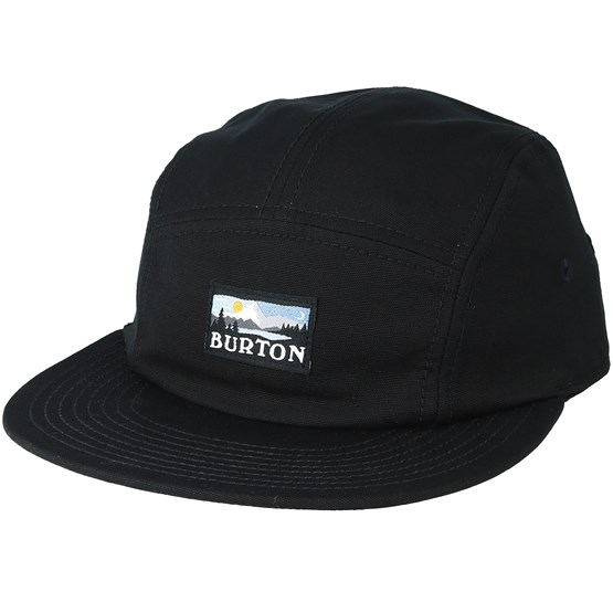 c3cc649142dfa Cordova 5 Panel True Black Strapback - Burton caps | Hatstore.co.uk