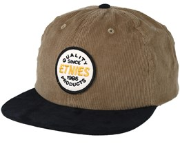 bf3c4b58cce Patched Black Tan Snapback - Etnies