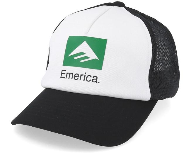 5e931f3d Brand Combo White/Black Trucker - Emerica caps - Hatstorecanada.com