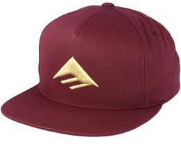 Triangle Burgundy Snapback - Emerica