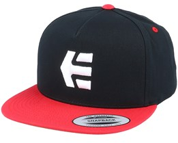 Icon Black/Red Snapback - Etnies