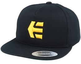 Icon Black/Yellow Snapback - Etnies