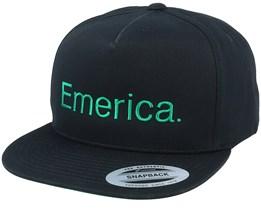 Pure Black/Green Snapback - Emerica
