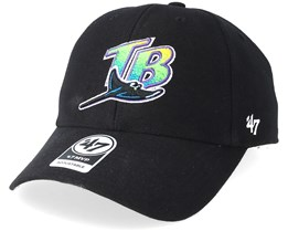 Tampa Bay Rays Cooperstown Mvp Black Adjustable - 47 Brand