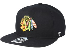 Chicago Blackhawks Sure Shot Black Snapback - 47 Brand