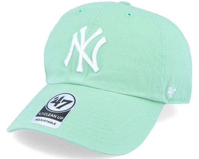 e58e7347ee1 New York Yankees Clean Up Mint Green Adjustable - 47 Brand cap -  Hatstore.co.in