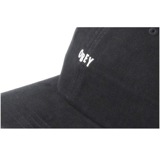 9098d604385 Jumble Bar III 6 Panel Black Adjustable - Obey caps