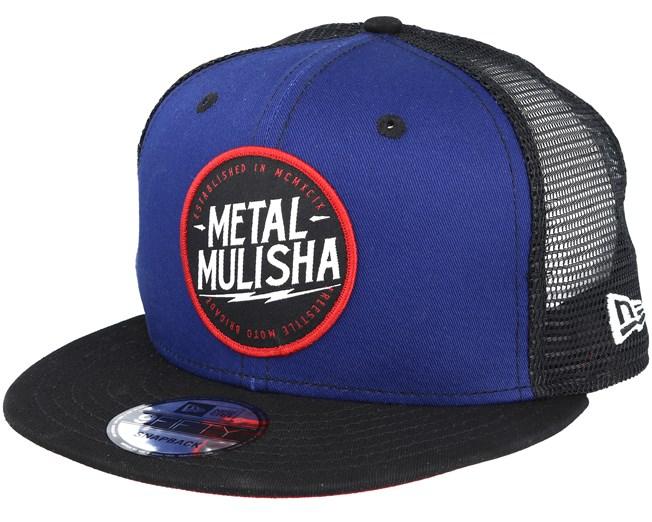 Strike Blue Trucker Snapback - Metal Mulisha lippis - Hatstore.fi 7ee131b6d5