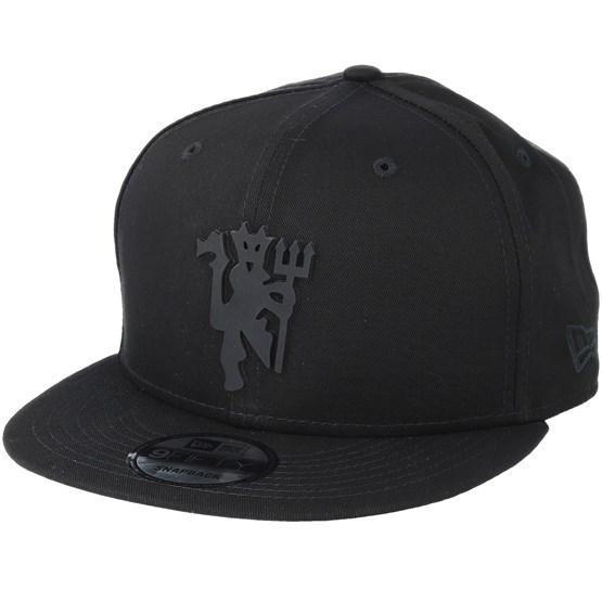 Manchester United All Black Bob Devil New Era 9Fifty Snapback Cap
