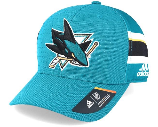 San Jose Sharks Draft Structured Teal Flexfit - Adidas caps ... 38019f2862fd