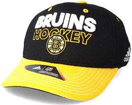 Boston Bruins Locker Room Structured Black Flexfit - Adidas