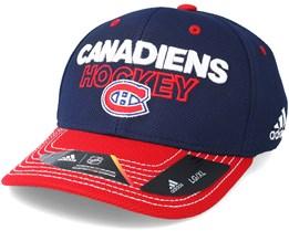 Montreal Canadiens Locker Room Structured Navy Flexfit - Adidas