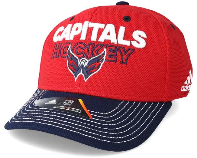 Washington Capitals Locker Room Structured Red Flexfit - Adidas caps -  Hatstoreworld.com 76fd7a9ec156