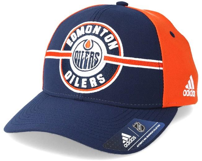 2b3d92b9cfb14 Edmonton Oilers Strucured Navy Orange Adjustable - Adidas caps -  Hatstoreworld.com