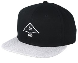 3D Tree Logo Black/Heather Grey Snapback - LRG