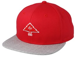 3D Tree Logo Red/Heather Grey Snapback - LRG