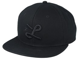 Down With L Black/Black Snapback - LRG