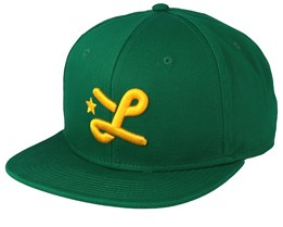 Down With L Green/Yellow Snapback - LRG