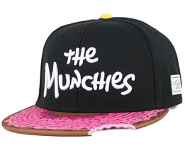 The Munchies Black/Pink Donut Snapback - Cayler & Sons