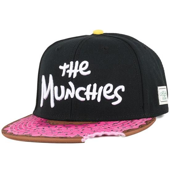 645b92b7f8289 The Munchies Black Pink Donut Snapback - Cayler   Sons caps -  Hatstoreworld.com