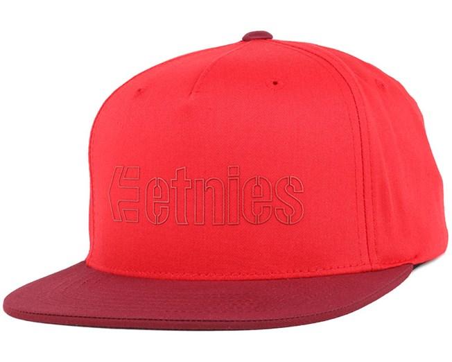 37786c1e75124 Corporate 5 Red Snapback - Etnies - Start Gorra - Hatstore