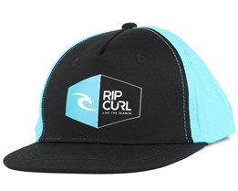 Kids Logo Peak Black Snapback - Rip Curl