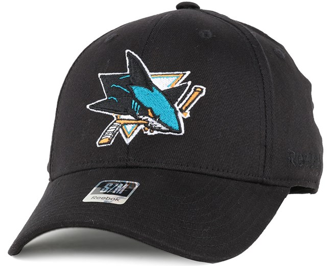 3b49da34 San Jose Sharks BL Black Flexfit - Reebok caps - Hatstoreworld.com