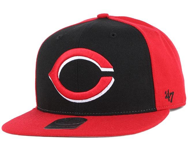 bfaf79285a0 Cincinnati Reds Sure Shot Accent Red Snapback - 47 Brand caps ...