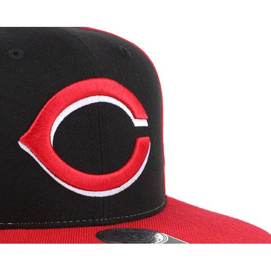 Cincinnati Reds 47 Brand Sure Shot Snapback Hat