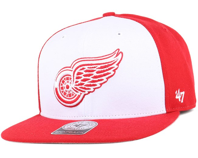 new product dec73 2fda4 Detroit Red Wings Sure Shot Accent Red Snapback - 47 Brand