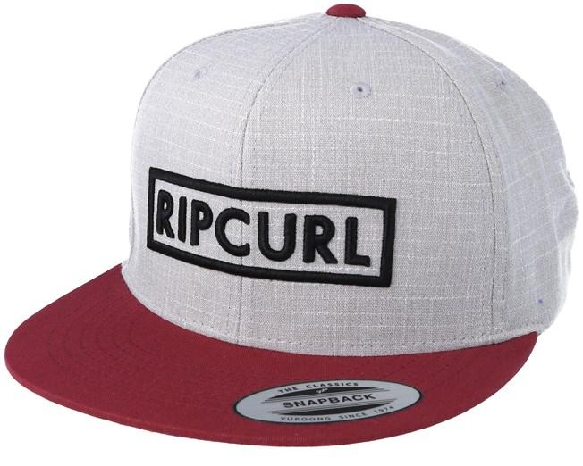 3dca0705cc6 Undertow Box Twany Port Grey Snapback - Rip Curl caps