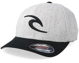 Fleck Curve Peak Grey/Black Marled Flexfit - Rip Curl