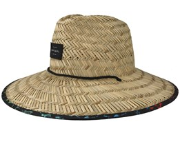 Yardage Straw/Multi Black Straw Hat - Rip Curl