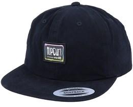 Native Glitch Dad Cap Washed Black Snapback - Rip Curl