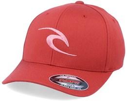 Fleck Curve Peak Red Flexfit - Rip Curl