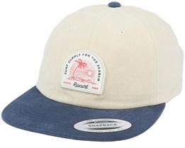 Surf Supply Cap Khaki/Navy Strapback - Rip Curl