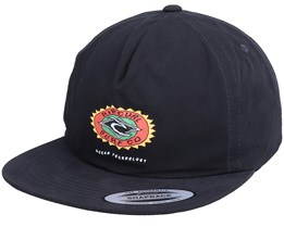 Fade Out Sun Sb Washed Black Snapback - Rip Curl