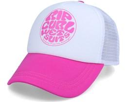 Surfers Essentials White/Pink Trucker - Rip Curl
