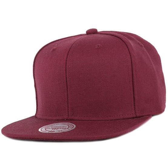 Blank Burgundy Snapback - Mitchell   Ness caps - Hatstoreworld.com abf9c13b192