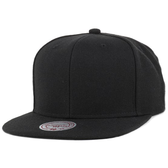 7353bfab99037 Blank Black Snapback - Mitchell   Ness caps