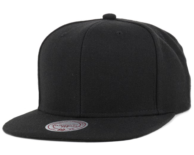 huge discount 52350 f06bc Blank Black Snapback - Mitchell   Ness