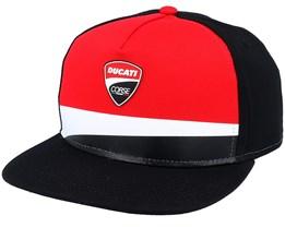 Ducati Corse Badge Flat Visor Red/Black Snapback - Moto GP