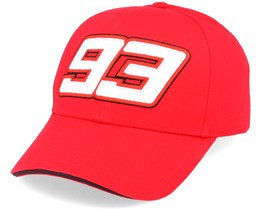 Moto GP Marc Marquez Cap Baseball Red Adjustable - Moto GP