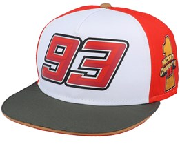 Moto GP Marc Marquez Eight Ball Cap White/Red/Charcoal Snapback - Moto GP