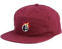 Crate Burgundy Snapback - The Hundreds