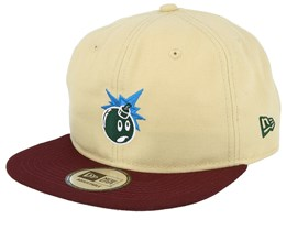 Keen Pale Yellow/Burgundy Snapback - The Hundreds